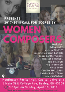 2017-2018 Call For Scores by Women Composers