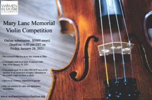 Mary Lane Memorial Violin Competition